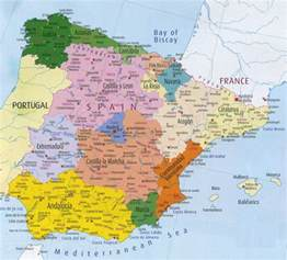 Spain Map Europe by Detailed Administrative Map Of Spain Spain Detailed