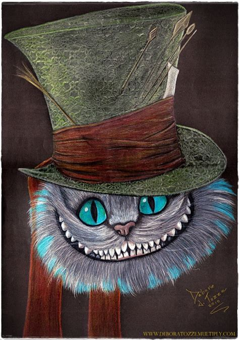 cat tattoo top hat cheshire cat gato de cheshire by deboratsuki on deviantart