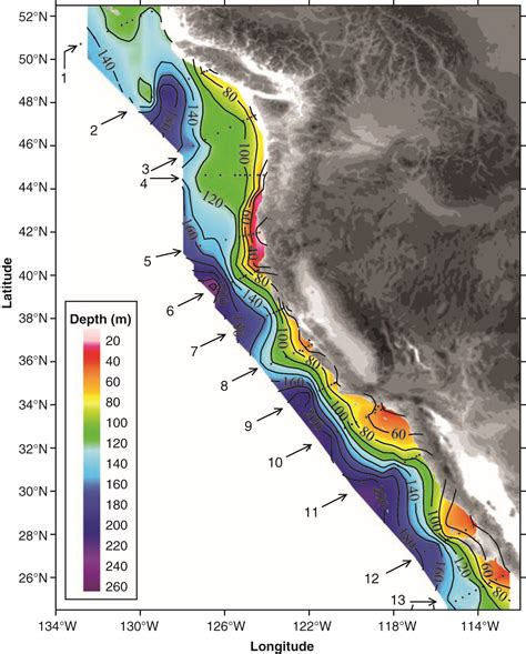 Continental Shelf Location by Feely Et Al Evidence For Upwelling Of Corrosive