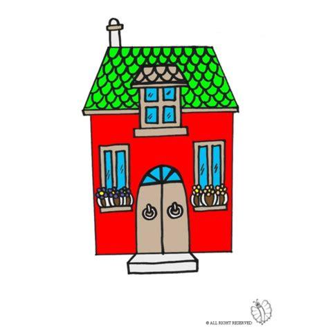 disegni casa disegno di casetta a colori per bambini