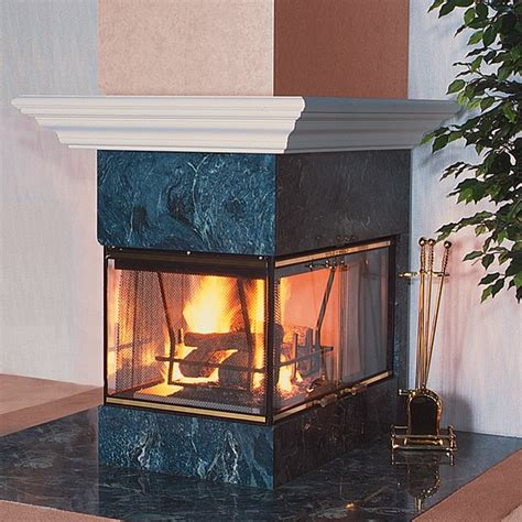 Fireplace Peninsula by Vantage Hearth Peninsula Series Smooth Fireplace 36 Quot