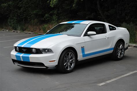 mustang blue and white 2011 gt premium white w blue stripes the mustang source