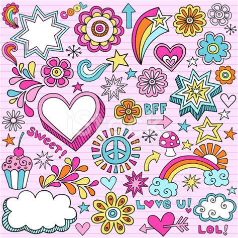 free doodle design elements groovy notebook doodle design elements stock photos