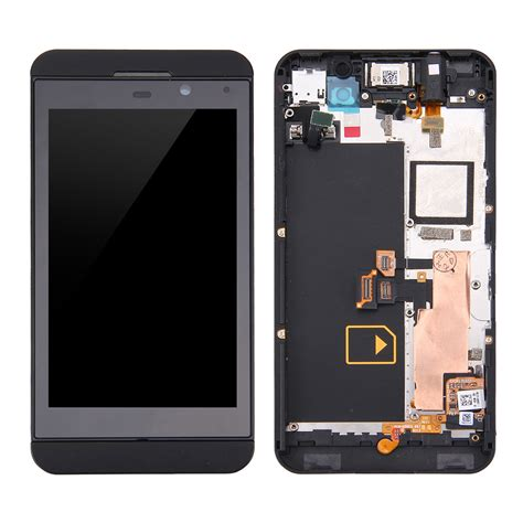 Tulang Frame Blackberry Z10 Bb Z10 lcd screen touch screen digitizer assembly with frame