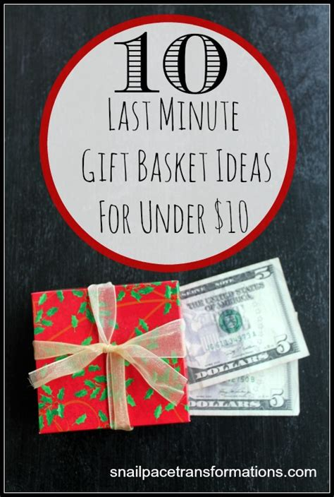 christmas gifts for ten dollars 10 last minute gift basket ideas for 10