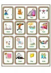 regular verbs flashcards set 2