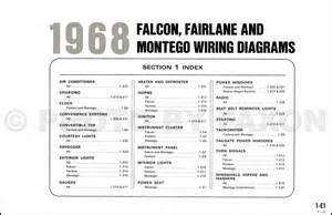 1968 ford falcon fairlane ranchero mercury montego wiring diagram original