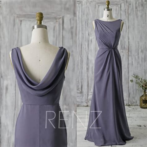 draped evening dress 2016 steel blue bridesmaid dress long high neck illusion