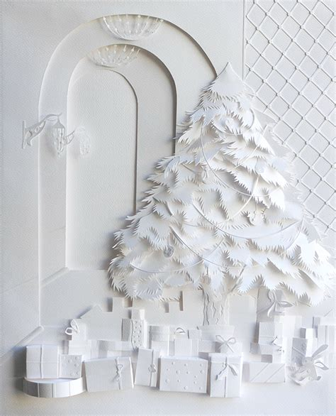 Paper Cut Winter I M - white winter luxury project on behance