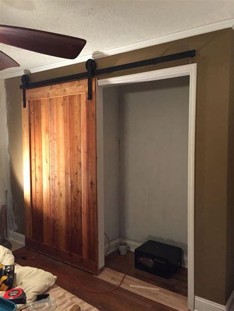 rough cut cedar closet barn door build  scrapwork