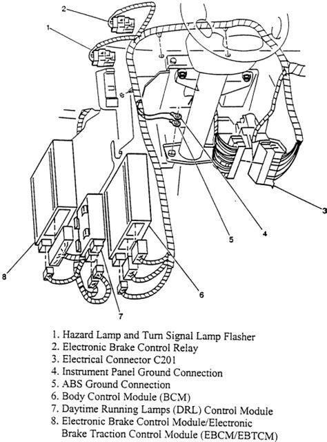 repair anti lock braking 2000 chevrolet express 1500 spare parts catalogs repair guides anti lock brake system electronic brake control module ebcm electronic