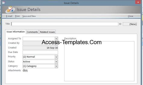 issue tracking access database template access issues tracking templates for ms access 2013 and