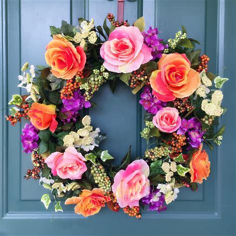 Handmade Wreath Ideas - 15 colorful handmade summer wreath ideas to refresh your