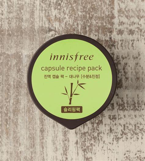 Innisfree Capsule Recipe Pack Innisfree Mask skin care capsule recipe pack bamboo innisfree