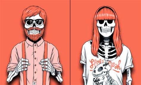 imagenes hipster de calaveras tatuajes de calaveras hipster