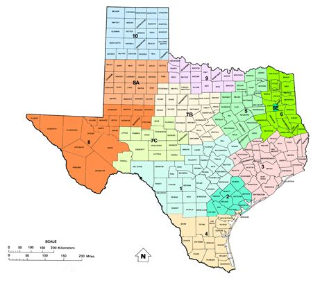 texas district map texas railroad commission districts and and gas map of texas