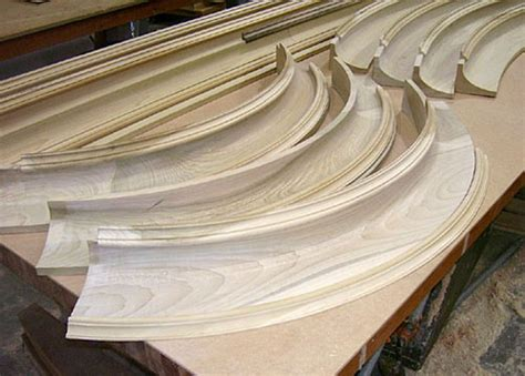 curved wood trim molding custom milled architectural wood molding railings and