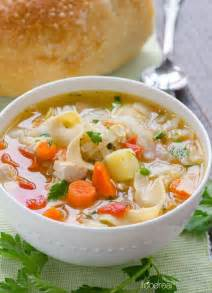 chicken noodle and vegetable soup recipe details