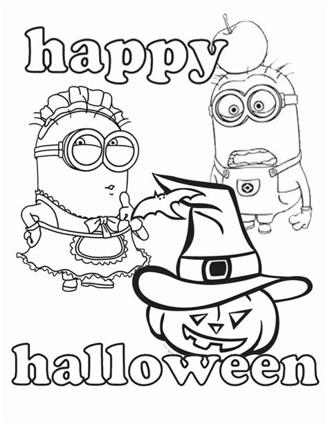 minion pumpkin coloring pages minions and halloween coloring page h m coloring pages