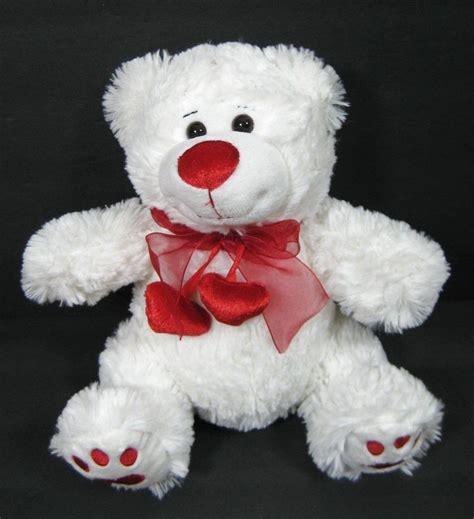 valentines day stuffed animals walmart 10 quot white 2 hearts be mine walmart plush stuffed