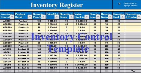 stock inventory control template stock inventory
