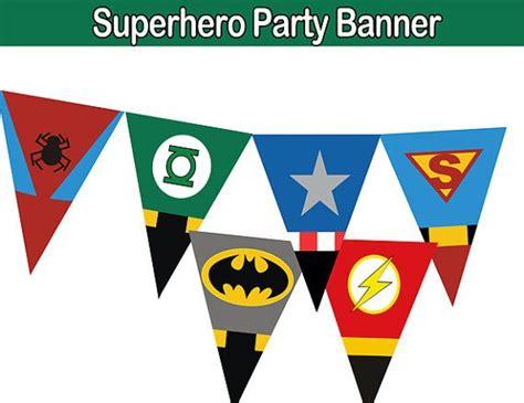 printable superhero banner superhero pants birthday pennant banner by partysuperhero