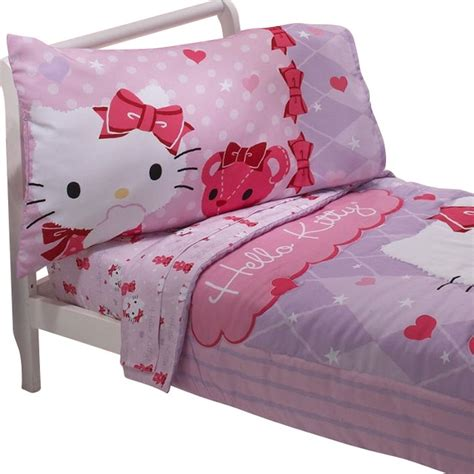 hello kitty bed hello kitty toddler bedding set teddy bear friends bedding