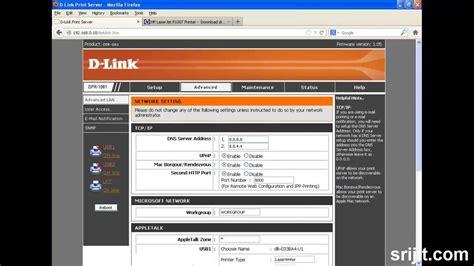 3 port print server setup dpr 1061 3 port print server with dot matrix and