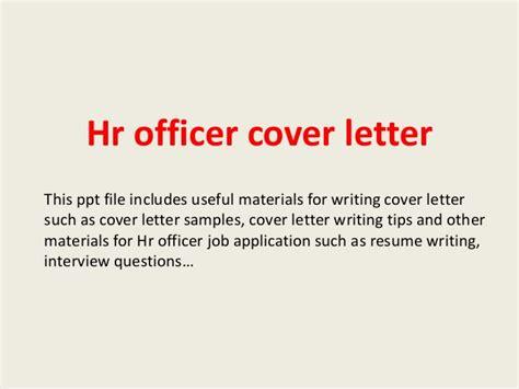 Hr Officer Cover Letter by Hr Officer Cover Letter