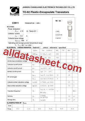 c2611 t0 92 데이터시트 pdf jiangsu changjiang electronics technology co ltd
