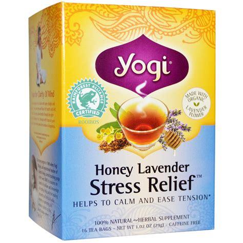 Honey Lavender Stress Relief Yogi During Detox by Yogi Tea Honey Lavender Stress Relief Caffeine Free 16