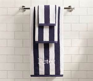 rugby stripe bath towel collection