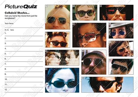 film pub quiz round quiz number 019 with celluloid shades picture round
