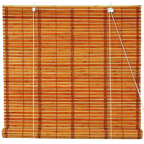 roll up window blinds window blinds burnt bamboo roll up blinds two tone honey