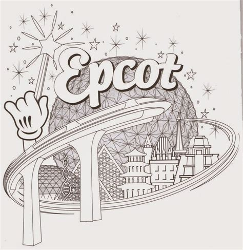 disneyland coloring pages epcot coloring pages disney coloring pages