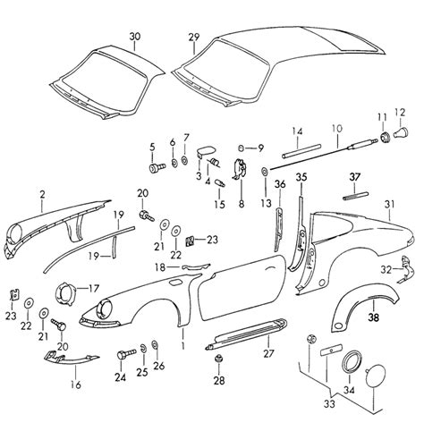 Porsche 911 Blechteile by Porsche 911 Sheet Metal Parts Diagrams Porsche Auto