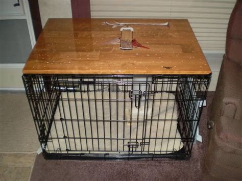 Table Top On Dog Crate Furry Friends Pinterest