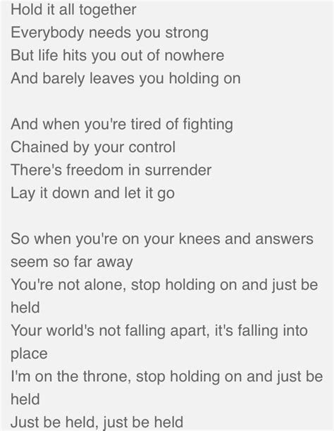 Printable Lyrics To Just Be Held By Casting Crowns | just be held casting crowns music pinterest