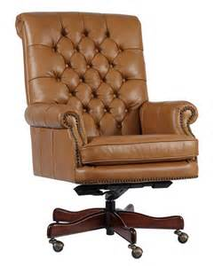 tan leather tufted back executive office desk chair ebay