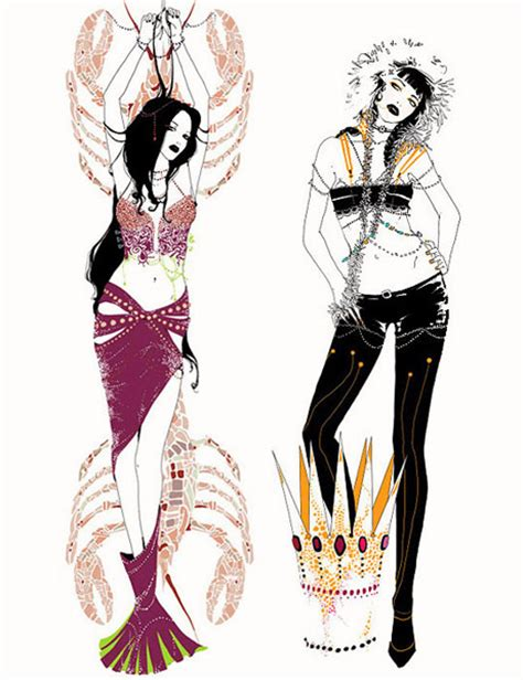 fashion illustration zodiac beautiful and modern vision of zodiac signs illustrations by yana moskaluk ego alterego