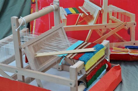 table top loom brio wood table top weaving loom sweden rigid heddle age 5