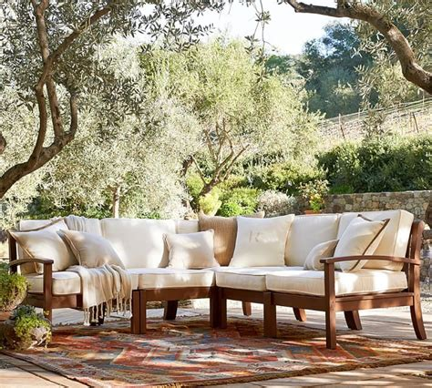 pottery barn outdoor sofa lounge in style with these deck furniture ideas