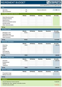 retirement planning template retirement budget planner free template for excel