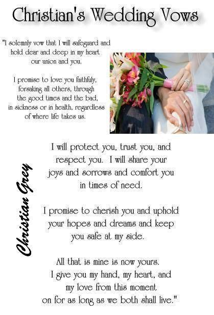 traditional wedding vows christian 1000 images about fifty of grey quotes on