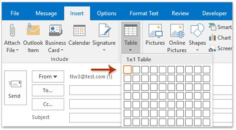 How To Insert Background Color Into An Outlook Signature Change The Selected Table To Table Classic 2 Style