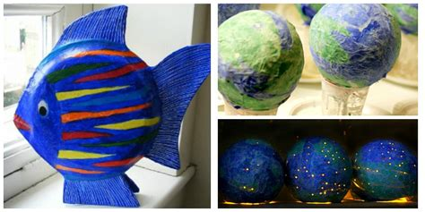 And Craft With Paper Mache - paper mache crafts for crayon box chronicles
