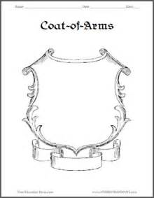 template for coat of arms crest mascot on crests owl and coat of arms