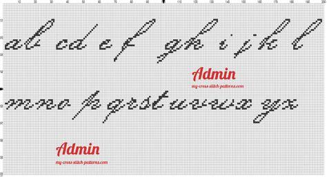 lettere minuscole punto croce leggi argomento alfabeto kunstler script punto croce
