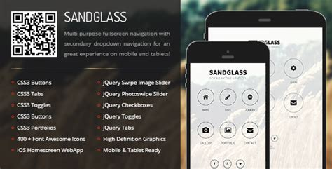 themeforest appbar mobile tablet responsive template sandglass mobile tablet responsive template by enabled