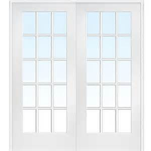 Home Depot Interior Double Doors Milliken Millwork 73 5 In X 81 75 In Classic Clear Glass